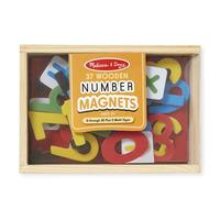 Dřevěné magnetické číslice 37 ks