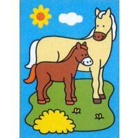 Obrázek pro pískování 23x33 cm /kůň s hříbětem/