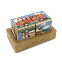 Dřevěné kostky se zvuky - Dopravní prostředky
