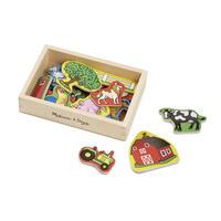 Dřevěné magnety Farma