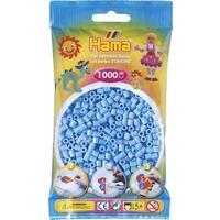 Pastelově modré korálky - 1.000ks MIDI