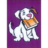 Obrázek pro pískování 23x33 cm /pes s knihou/