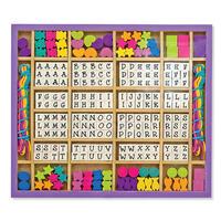 Dřevěné korálky s abecedou