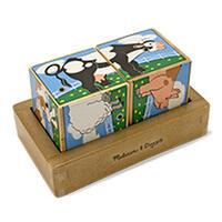 Dřevené kostky se zvukem - Farma