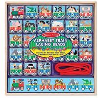 Vlak s abecedou - navlékání