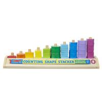 Dřevěné počítání - tvary a čísla