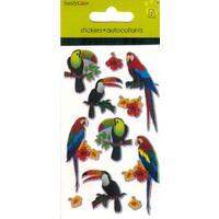 Samolepky - papoušci