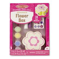 Dřevěná krabička k vymalování /Květina/