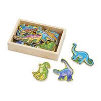 Dřevěné magnety Dino