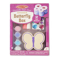 Dřevěná krabička k vymalování /Motýl/