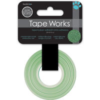 Dekorativní páska glitrová - zelená