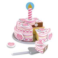 Dřevěný třípatrový narozeninový dort