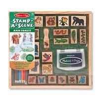 Dřevěná razítka v krabičce - Prales