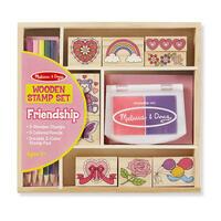 Dřevěná razítka v krabičce /přátelství/