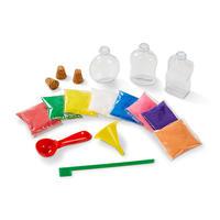 Dekorace barevným pískem /3 lahvičky/