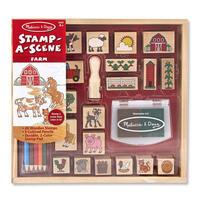 Dřevěná razítka v krabičce - Farma