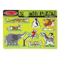 Dřevěné puzzle se zvuky - ZOO