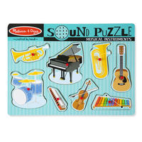 Dřevěné puzzle se zvuky - hudební nástroje