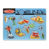 Dřevěné puzzle se zvuky - nářadí