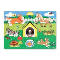 Dřevěné puzzle Domácí zvířata