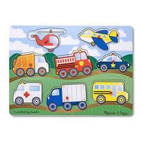 Dřevěné puzzle - dopravní prostředky