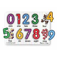 Dřevěné puzzle - Číslice