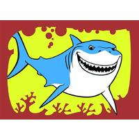 Obrázek pro pískování 23x33 cm /žralok/
