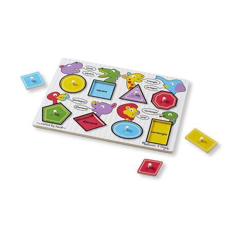 Dřevěné puzzle - Tvary - 1