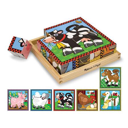 Dřevěné kostky - Farma - 1