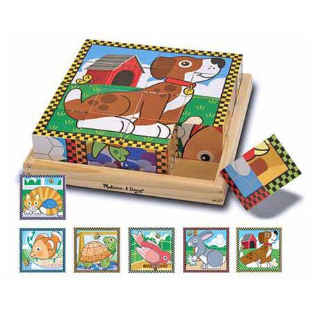 Dřevěné kostky - Mazlíčci - 1