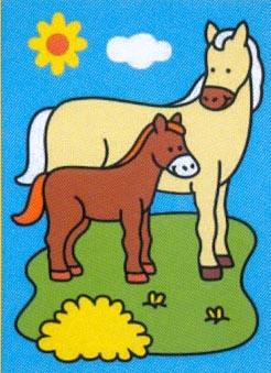 Obrázek pro pískování 23x33 cm /kůň s hříbětem/ - 1