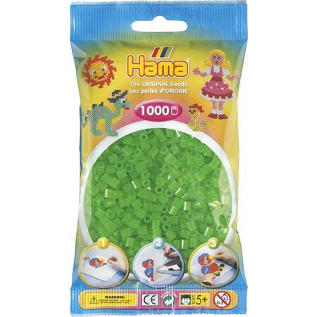 Neonové zelené korálky - 1.000ks MIDI