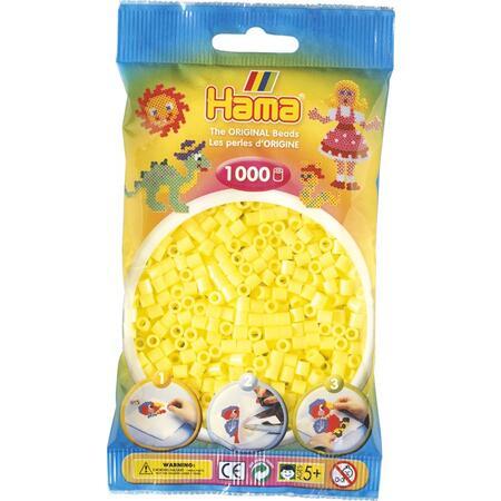 Pastelově žluté korálky 1.000ks MIDI