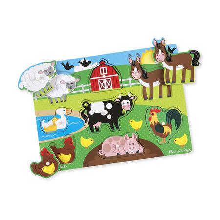 Dřevěné puzzle Farma - 1