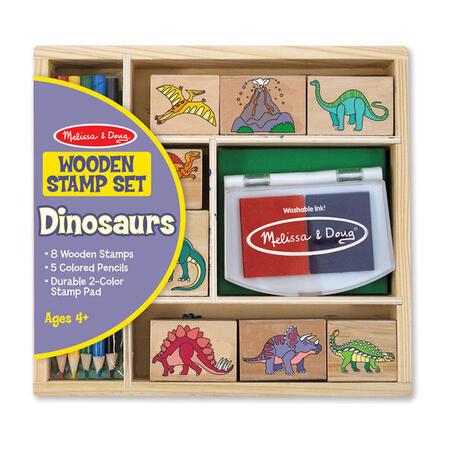 Dřevěná razítka v krabičce Dino - 1
