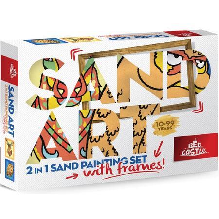SAND ART - Sova a Jelen - 2x A4 obrázky + rámečky - 1