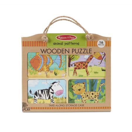 Dřevěné puzzle na cestu Zvířata - 1