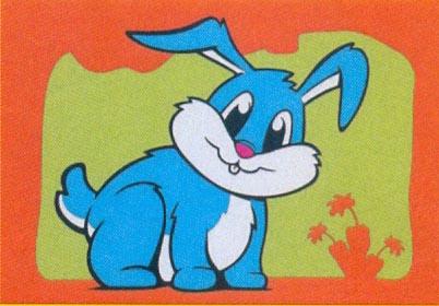 Obrázek pro pískování 23x33 cm /králíček/ - 1