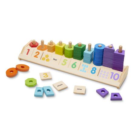 Dřevěné počítání - tvary a čísla - 1