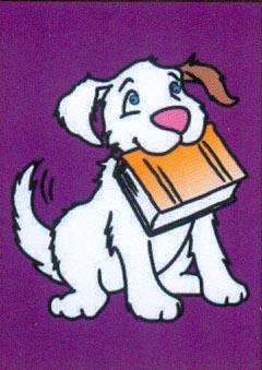 Obrázek pro pískování 23x33 cm /pes s knihou/ - 1