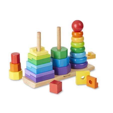 Dřevěná skládačka Geometrické tvary - 1