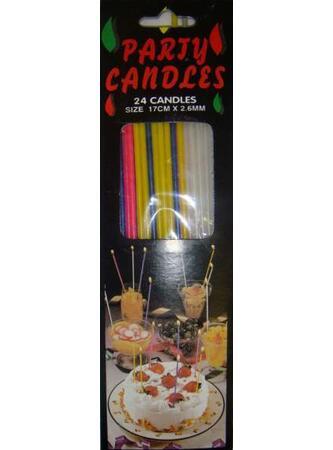 Narozeninové svíčky 17cm x 2,6mm