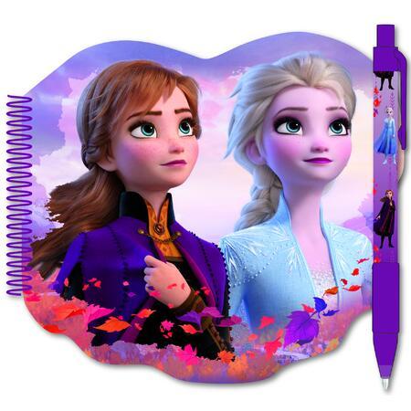 Ledové království II - spirálový zápisník s perem