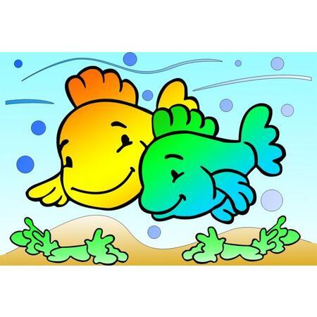 Obrázek pro pískování 23x33 cm /ryby/ - 1