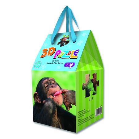 3D puzzle v dárkovém balení - Šimpanz