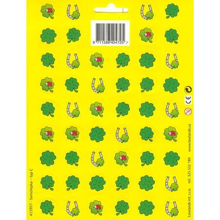 Samolepky - typ L /čtyřlístek žlutá/