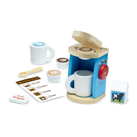 Melissa & Doug - Dřevěný set na přípravu kávy - 1
