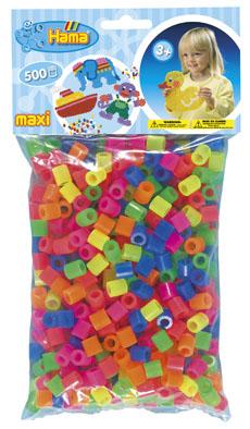 Mix korálky v sáčku - 500 ks - MAXI - 1