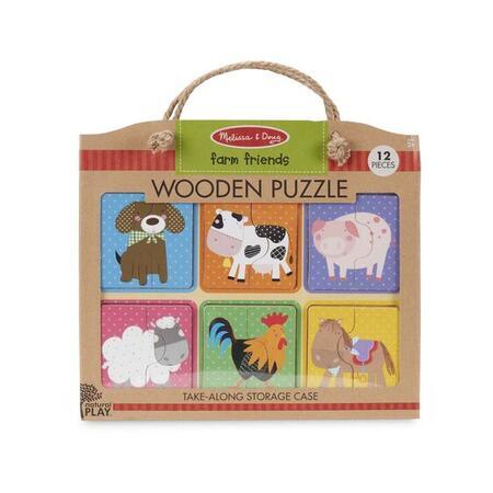 Dřevěné puzzle na cestu Farma - 1