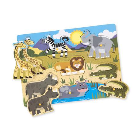 Dřevěné puzzle Safari - 1